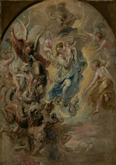 Rubens, Peter Paul: The Virgin as the Woman of the Apocalypse. Fine Art Print/Poster. Sizes: A1/A2/A3/A4 (003916)